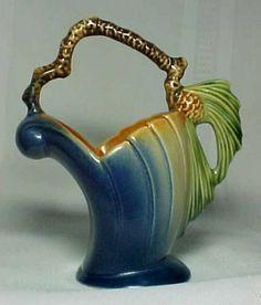 Roseville Pottery Pinecone Basket Vase