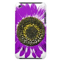 Purple Sunflower iPod Case-Mate Cases