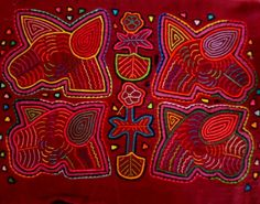 Kuna Indian Hand-Stitch Kentucky Derby Entries Mola Art-Panama 16030218L