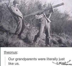Get a laugh: our grandparents were just like us