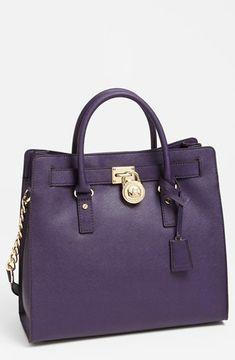 d6de9e50e MICHAEL Michael Kors 'Hamilton - Large' Saffiano Leather Tote Iris on  shopstyle.com