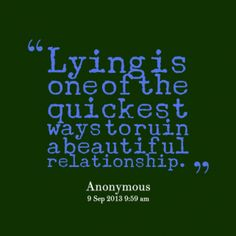 quotes about lying in relationships - Google Search
