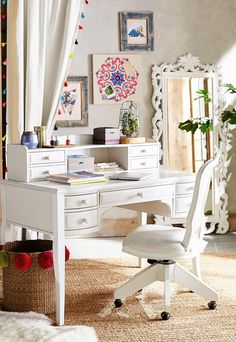 Create the perfect space to release your creativity with our Lilac Vanity (that can also be used as a desk!) and Lennon and Maisy decor.