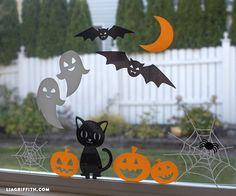 DIY Halloween Window Clings Cricut