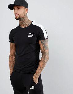 90f56b08 Puma T7 Muscle Fit T-Shirt In Black