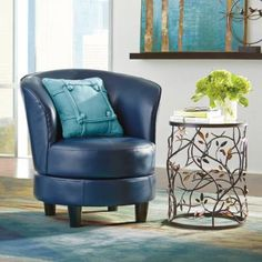 Rebecca Swivel Chair | Swivel Barrel Chair, Leather Swivel Chair And Swivel  Chair