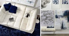 The Cloud Modular Sectional - With the buttery feel of an Italian pebbled-leather handbag and stylish good looks.