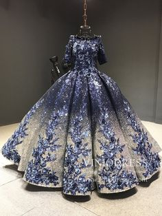 Elbow Sleeve Navy Blue Vintage Quinceanera Dress floral Detut Dress – Viniodress Source by viniodress fashion couture Sweet 15 Dresses, Cute Prom Dresses, Formal Dresses For Weddings, Ball Dresses, Pretty Dresses, Homecoming Dresses, Beautiful Dresses, Evening Dresses, Black Quinceanera Dresses