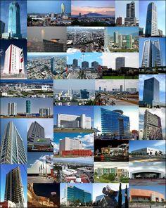 Edificios modernos de #Puebla en un gran collage, en cuantos has estado?