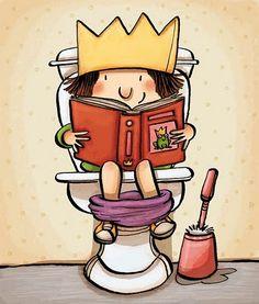 Always read, everywhere / Siempre leyendo, en todas partes (ilustración de Lucía Serrano)