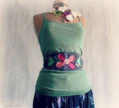 Floral Sash Women's Boho Belt Hippie by BrokenGhostClothing