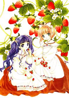 CLAMP, Cardcaptor Sakura, Cardcaptor Sakura Illustrations Collection 2, Daidouji Tomoyo, Kinomoto Sakura, Wavy Hair