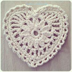 crochetinpaternoster crochet chunky cotton heart