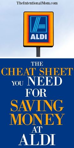 The Cheat Sheet You Need For Saving Money at ALDI – Finance tips, saving money, budgeting planner Save Money On Groceries, Ways To Save Money, Money Tips, Money Saving Tips, Money Savers, Groceries Budget, Frugal Living Tips, Frugal Tips, Frugal Recipes