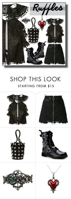 """""""Ruffled Tops"""" by sabine-713 ❤ liked on Polyvore featuring Zimmermann, County Of Milan, Alexander Wang and Demonia"""