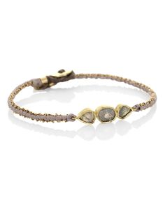 Beige Triple Orbit Raw Diamond Silk Bracelet, Brooke Gregson. Shop the latest bracelets from the Brooke Gregson collection online at Liberty.co.uk