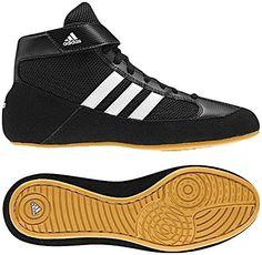 separation shoes f4d75 80c08 Adidas Men s Boy s HVC2 Wrestling Mat Shoe Ankle Strap (Black White, 10)
