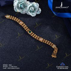 Jadtar Bracelet jewellery for Women by jewelegance. ✔ Certified Hallmark Premium Gold Jewellery At Best Price Gold Chain Design, Gold Bangles Design, Gold Jewellery Design, Gold Jewelry, Women Jewelry, Diamond Jewelry, Antique Bracelets, Dainty Bracelets, Antique Jewelry
