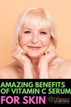 Why is Vitamin C & Hyaluronic Acid So Great For Your Skin? Skin Tightening Cream, Tighten Loose Skin, Vitamin C Benefits, Prom Makeup Looks, Skin Secrets, Vitamin C Serum, Radiant Skin, Skin Brightening, Face Skin