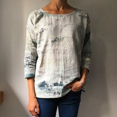 Tried out the free hemlock top in a woven Nani iro fabric from grainline.    #naniirofabric #grainlinehemlock #wovenhemlock