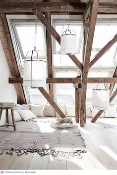 Zolder houten balken