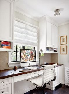 beautiful white home office