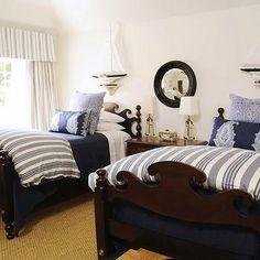 Nautical Boys Bedroom, Cottage, boy's room, Phoebe Howard