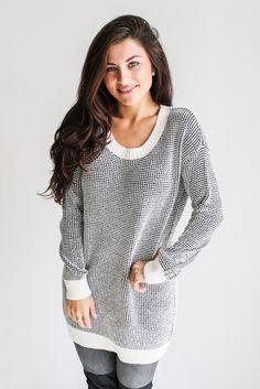 waffle knit sweater dress