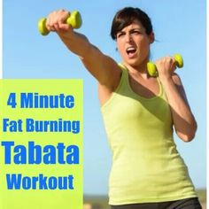 4 minute fat burning workout