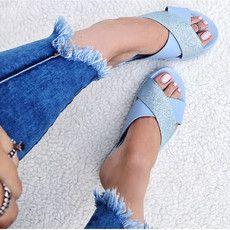 Birken Cross Glitter Azul