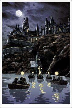 Harry Potter inspired screen print by illustrator Tim Doyle.