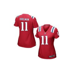 Nike New England Patriots 11 Julian Edelman Red Alternate Super ...