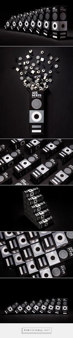 Allsorts Black and White packaging design by BOND - http://www.packagingoftheworld.com/2016/11/allsorts-black-and-white.html