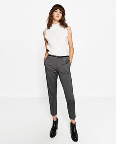 Image 1 of MID-RISE CHINOS from Zara