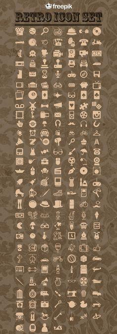 Free Retro Icons Pack - CrazyLeaf Design Blog