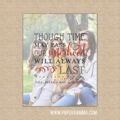 Sorority sisters gift Chi Omega Though time may pass by PaperRamma