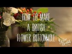 Here The Great British Florist explains in detail how to put together a really effective and long lasting DIY buttonhole for your wedding or event.   Stacey shows you the detail behind wiring leaves and flowers and explains in a step by step method how to bring it all together to make an attractive buttonhole for any season.   You can adjust the design to use your own flowers, or berries etc.