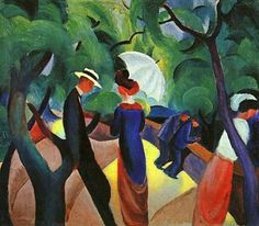 Promenade(1913)  August Macke  This is it, the one I LOVE!