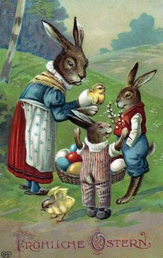 Old Easter Post Card — Fröhliche Ostern (564×890)