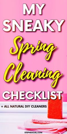 Don't Miss A Spot With The Help Of My Sneaky Spring Cleaning Checklist! - Cleaning tips, Spring cleaning checklist, Declutter Your Home, How To Declutter Your Home, organiza - Spring Cleaning Schedules, Deep Cleaning Checklist, Deep Cleaning Tips, Natural Cleaning Products, Spring Cleaning Tips, Bathroom Cleaning Hacks, Cleaning Day, House Cleaning Tips, Cleaning Hacks Tips And Tricks