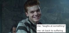 Laughter keeps it in check, but damn is mental illness a relentless bitch! Gotham Joker, Gotham Villains, Gotham Tv, Gotham Series, Victor Zsasz, Jerome Valeska, Marvel Now, Cameron Monaghan, Good Movies