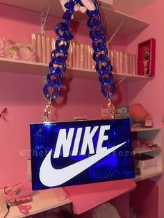 Diy Purse, Tote Purse, Clutch Bag, Nike Purses, Aesthetic Bags, Aesthetic Food, Light Skin Girls, Lit Outfits, Blue Clutch