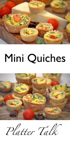 Fast and simple to make mini quiches from Platter Talk. Use the ingredients that you like and make them perfect for any occasion. Easy to freeze and reheat!