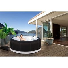 Jacuzzi gonflable on pinterest ground pools maison plain pied and carrelag - Jacuzzi gonflable 6 personnes ...