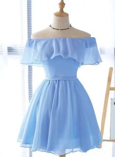 Beautiful Light Blue Party Dress Charming Blue Bridesmaid Dress Part. - Beautiful Light Blue Party Dress Charming Blue Bridesmaid Dress Party Dress – Source by - Light Blue Homecoming Dresses, Formal Dresses For Teens, Cute Prom Dresses, Elegant Dresses, Dresses For Work, Maxi Dresses, Wedding Dresses, Summer Dresses, Summer Clothes