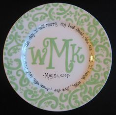 Personalized Mongram Plate