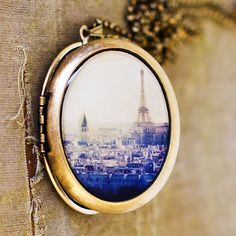 I Left My Heart In Paris Locket. WANT