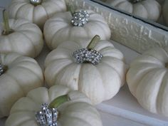 white pumpkins with bling!