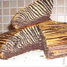 #Torta zebrata con lo yogurt http://www.tribugolosa.com/ricetta-56217-torta-zebrata.htm
