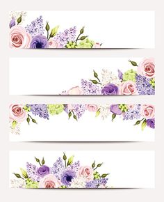 Purple And White Flowers, Lilac Flowers, Green Rose, White Roses, Pink Roses, Pink Purple, Floral Banners, Web Banners, Flower Phone Wallpaper